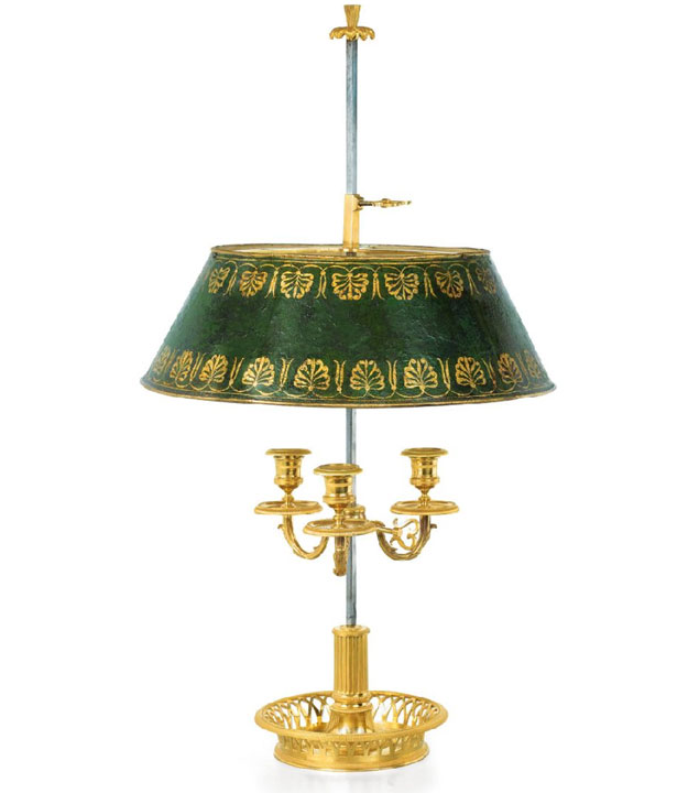 Captivating French Bronze Bouillotte Lamp