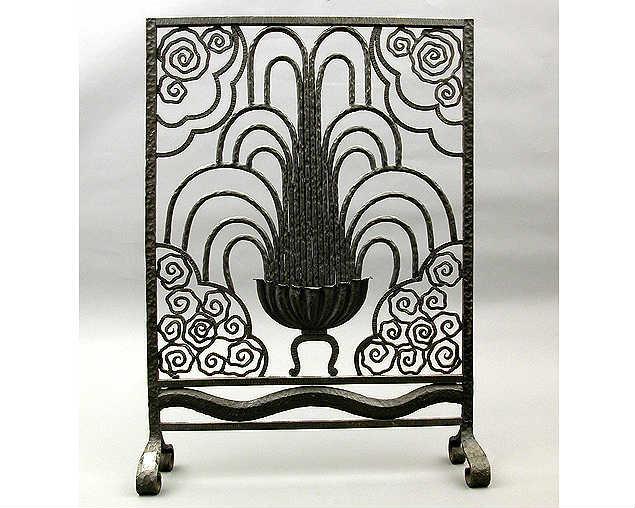 wrought iron art deco fireplace screen - Noble Dispatch » Archive Wrought Iron Art Deco Fireplace Screen